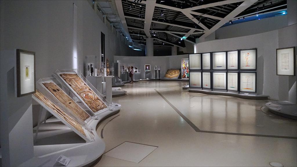 L'intérieur du musée du Quai Branly.